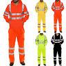Mens Hi Viz Vis High Visibility Reflective Hoodie Coat Pants Workwear Suit Set