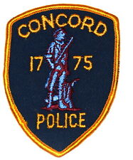 """CONCORD MASSACHUSETTS MA Sheriff Police Patch REVOLUTIONARY SOLDIER 4"""" ~"""