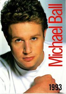 MICHAEL BALL UK 1993 TOUR PROGRAMME EXCELLENT CLEAN CONDITION