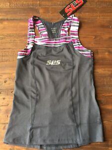 SLS3 FRT Womens Triathlon Race Tank NWT Gray Purple Size XS