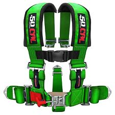 5 Point Safety Harness 2 Inch Seat Belt Sand Rail Dune Buggy Jeep Crawler Green