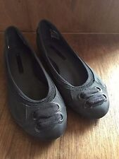 Stella McCartney Adidas Ballet Flats Shoes Mesh US 6.5 Gray with shoelace design