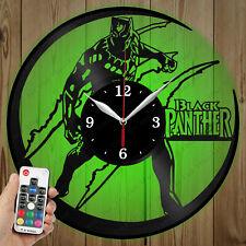 LED Vinyl Clock Black Panther LED Wall Art Decor Clock Original Gift 3830