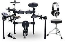 Electronic Drum Kit E-Drum Set Rack Sound Module Pedals Headphones Stool 8 Pads