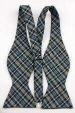 Black Blue Gray Men's Elegant Self Bow Tie Party Bowtie + Handkerchief O070