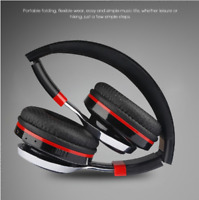 Foldable Bluetooth Headphones Glowing Wireless Stereo Music Headset With Mic FM