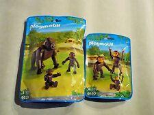 Playmobil 6639 + 6650 Gorilla und Schimpansen SET Baby Affe