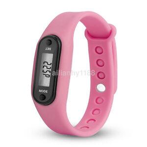 Hot Run Step Walk Watch Bracelet Pedometer Waterproof LCD Distance Wrist Band US