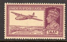 India Scott # 161A VF MNH 1940 George VI 14 Annas Mail Plane