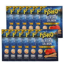 12Pcs FISHO Alaska Salmon Smoked Flavour Fish Snack Party Low Fat Halal Food 20g