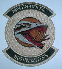 AMERICAN PATCHES-UNITED STATES AIR FORCE 78th FIGHTER SQUADRON RARE DESERT