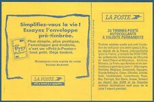 Carnet DAB 20 timbres Luquet TVP rouge autoadhésif N°3085-C2 neuf**