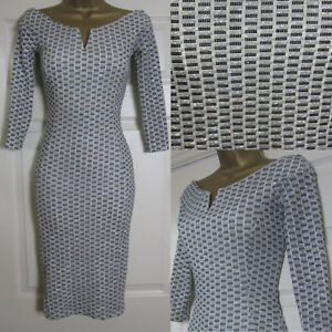 NEW Quiz Womens Sparkly Bardot Bodycon Party Dress Glitter Grey White Black 8-18