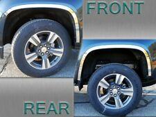 4pc Stainless Steel Wheel Well Accent Trim Wq55150 For Chevy Colorado 2017 2019 Fits 2016 Chevrolet