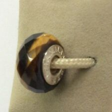 Chamilia Jewelry Murano Tiger's Eye Golden Brown Glass Bead Silver Charm