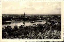 Crossen Krosno Odrzańskie Polen AK 1947 Fluß Oder Brücke Panorama Kirche Dorf