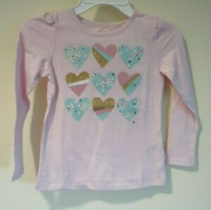 NWT Epic Threads Pink Hearts Top Girl's Size 5
