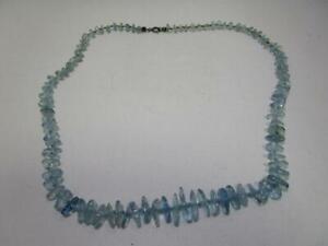Schöne Halskette mit hellblauen Steinen,Aquamarin??     AS3991