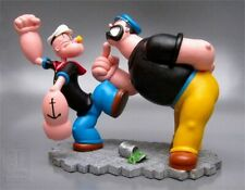 Extremely Rare! Popeye Fighting Brutus Figurine Statue