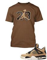 "23 Tee Shirt to Match Air Jordan 4 ""Mushroom"" Shoe Graphic Tee Pro Club Mens Tee"