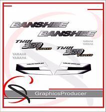 Yamaha Banshee Decals Reproduction Full Set Black And White Custom Design 2001