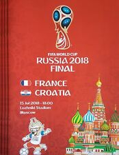 2018 FIFA WORLD CUP FINAL FRANCE v CROATIA A4 SIZE RED EDITION PROGRAMME