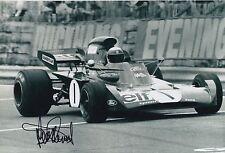 Jackie Stewart Hand Signed Elf Team Tyrrell F1 12x8 Photo 1.