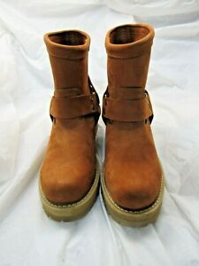 """Durango Men's 7"""" RED ENG Harness Leather Boots DS197 Size 8 E Round Toe"""