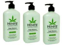 3X Hempz Triple Moisture Herbal Whipped Body Creme 17 fl oz NEW