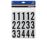 Hillman 2-in Reflective Mylar Number Pack