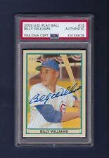 Billy Williams signed Chicago Cubs 2003 Upper Deck baseball card Psa/Dna