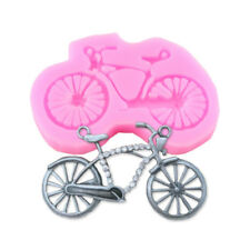Fondant Cake Mold Liquid Silicone Mould Bicycle Shaped Baking Decor DIY 3D Molds