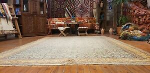 Exquisite Natural Dye Wool Pile High-End Traditional Hereke Area  Rug 7x10ft