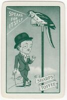Playing Cards 1 Single Card Old SHARP'S TOFFEE Advertising Parrot BOWLER HAT MAN