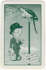 Playing Cards 1 Single Swap Card -?Vintage SHARP'S TOFFEE Parrot BOWLER HAT MAN