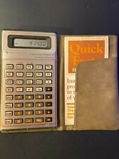 TESTED Texas Instruments TI Business Analyst-II Calculator Case Manual Vintage