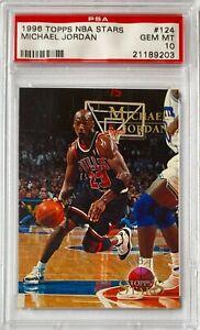 1996 Michael Jordan Topps NBA Stars PSA 10 ***POP 65*** Gem Mint #124 Pristine