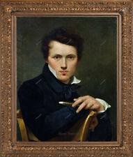 Old Master Art Antique Man Self Portrait Gentleman Oil Painting Unframed 24x30in