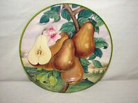 Italy Decorative Pear Hand painted China Fruit Plate