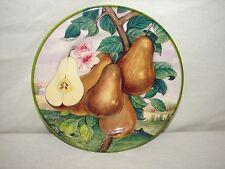 Italy Villa D'este Pear Handpainted China Fruit Plate ~ Fruit Pear Plate