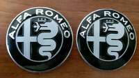 2pcs Alfa Romeo BLACK GIULIA emblems 74mm - 147, 156, 159, Mito, Guilietta