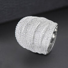 Women Ring Wedding Jewelry 5 Colors Charms Cubic Zirconia Wide Finger Rings for
