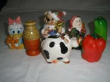 FABULOUS  ASSORTMENT OF 7 NOVELTY SALT AND PEPPER SHAKERS