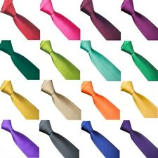 Mens Formal Casual Wedding Groomsmen Solid Plain Colour 8 or 10cm Necktie Ties