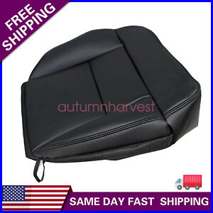 For 2004-2008 Ford F-150 STX XL XLT Driver Side Bottom Black Seat Cover Leather