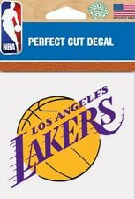 Los Angeles Lakers LA Logo 4x4 Perfect Cut Car Decal See Description