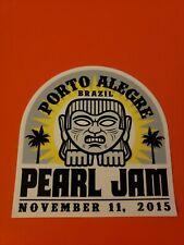 PEARL JAM VEDDER official tour sticker Porto Alegre
