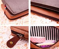 Cosmetic Pencil Pen Canvas retro Case Makeup Coin Pouch Zipper Bag Purse