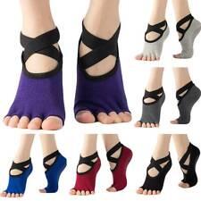 Womens Yoga Alignment Socks Skid Grips Fitness Pain Ballet Dance Massage Sports
