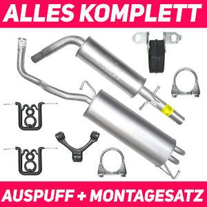 Auspuffanlage AUDI A3 1.6 75KW  Auspuff Schalldämper Montagesatz 2003-2008 8P1